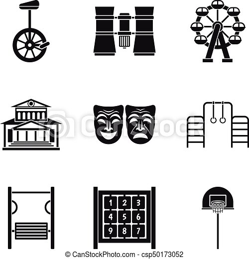 Incredible Showroom Icons Set Simple Style Download Free Architecture Designs Scobabritishbridgeorg