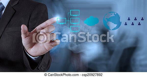 shows, moderne technologie, geschäftsmann - csp20927892