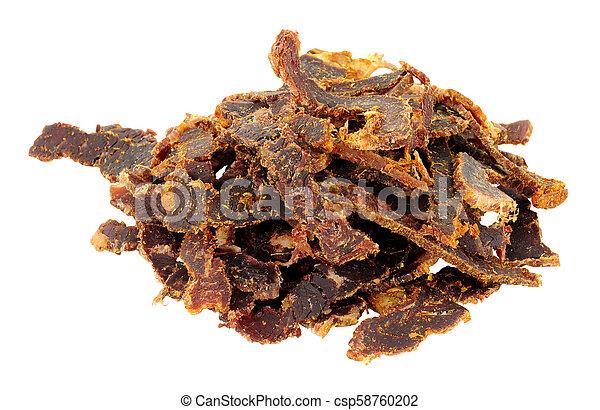 Shredded Biltong Dried Meat - csp58760202
