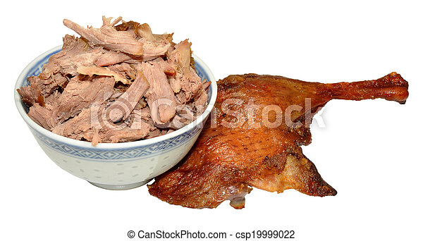 Shredded Chinese Aromatic Duck Meat - csp19999022