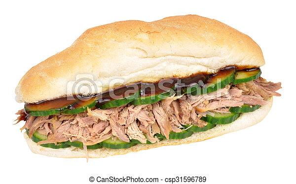 Shredded Duck Meat Sandwich - csp31596789