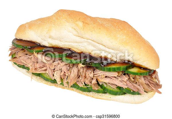 Shredded Duck Meat Sandwich - csp31596800