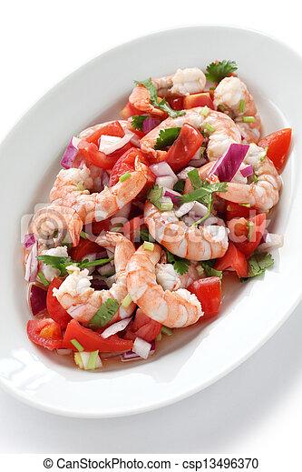 shrimp ceviche , prawn ceviche - csp13496370