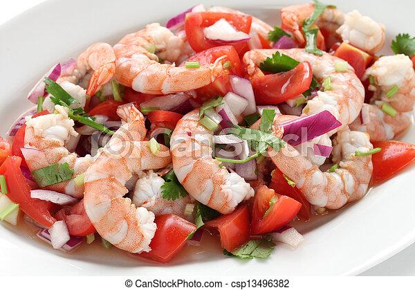 shrimp ceviche , prawn ceviche - csp13496382