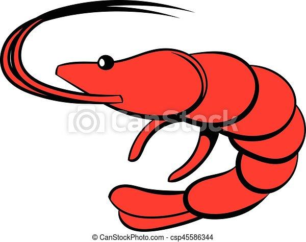 shrimp icon cartoon shrimp icon in cartoon style isolated eps rh canstockphoto com Cute Shrimp Clip Art Shrimp Chef Clip Art