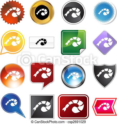 shrimp icon set - csp2691029