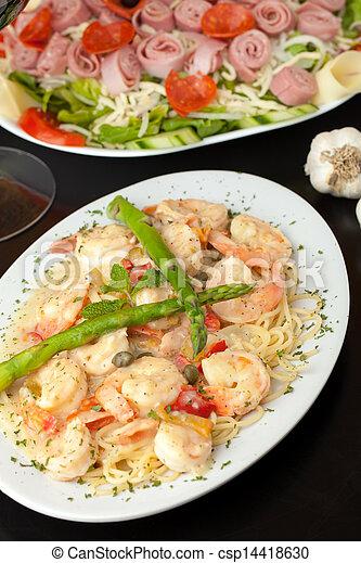 Shrimp Scampi with Pasta - csp14418630