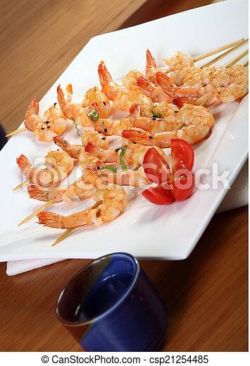 shrimp skewers - csp21254485