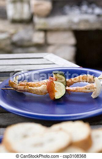 Shrimp skewers - csp3108368