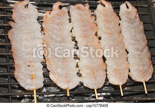 Shrimp skewers - csp15778409