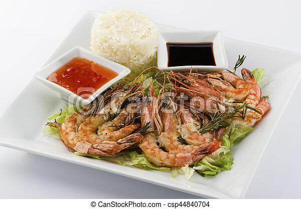 Shrimp skewers - csp44840704