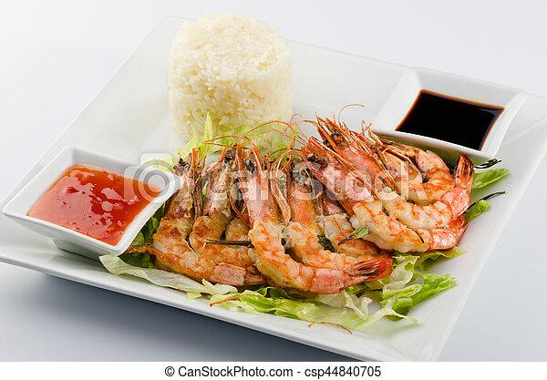 Shrimp skewers - csp44840705
