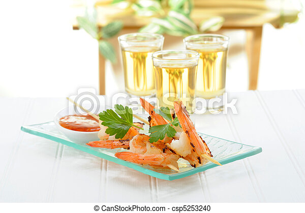 Shrimp Skewers - csp5253240