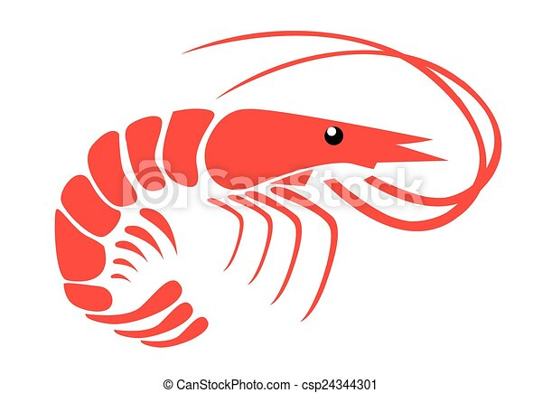 shrimp vector clipart search illustration drawings and eps rh canstockphoto com shrimp clipart black and white shrimp clipart graphics