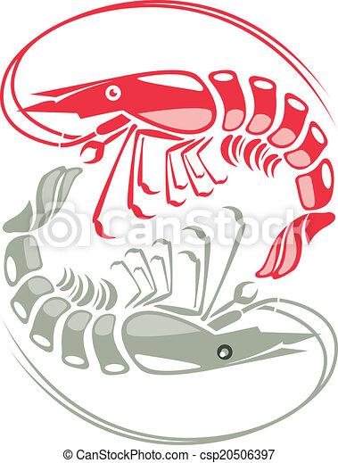 Shrimp vector illustration  - csp20506397