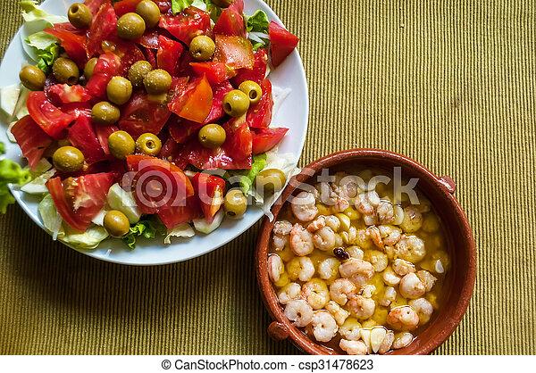 shrimp with garlic - csp31478623