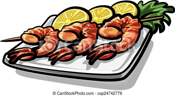 shrimps vectors illustration search clipart drawings and eps rh canstockphoto co uk Chicken Casserole Clip Art Oyster Stew Clip Art