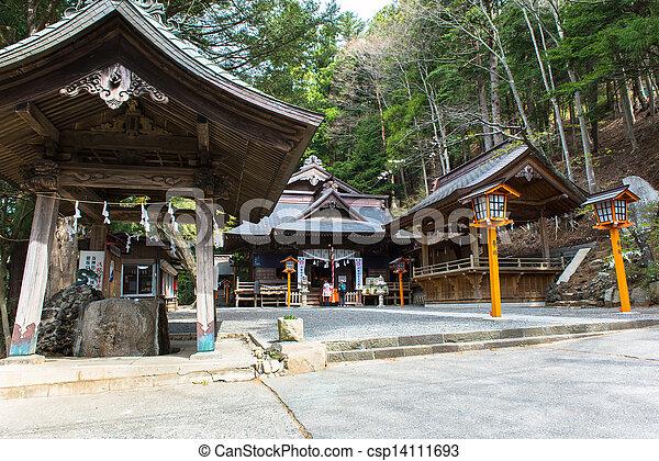 shrine on the mountain - csp14111693