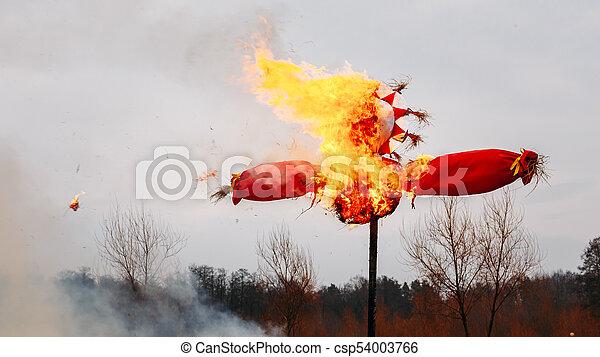 Shrovetide, Traditional Event Symbolizing Spring Beginning - csp54003766