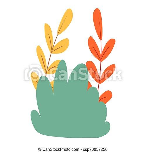 shrubbery icon cartoon - csp70857258