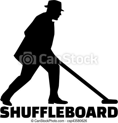 shuffleboard, parola, uomo - csp43580626