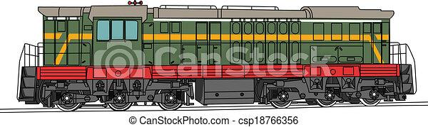 shunting, vetorial, locomotiva - csp18766356
