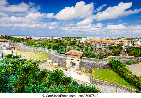 Shuri Castle in Okinawa - csp28097842