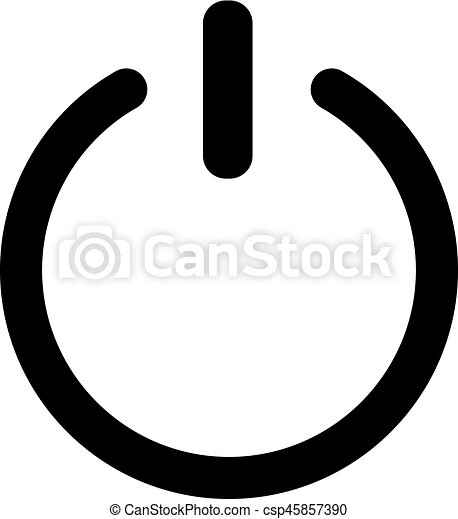 Shut Down Symbol Switch Off Simple Symbol Shut Down Symbol