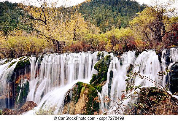 Shuzheng Waterfall in Jiuzhaigou - csp17278499