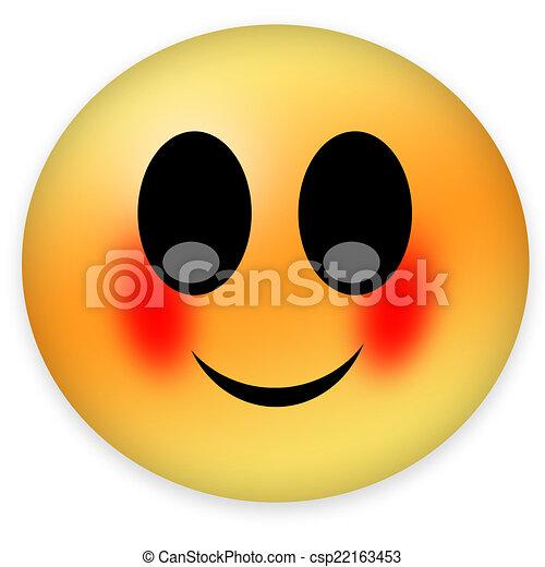 Smiley rote bäckchen