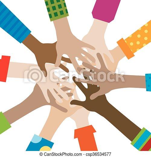 siła robocza, rozmaity, togetherness - csp36534577