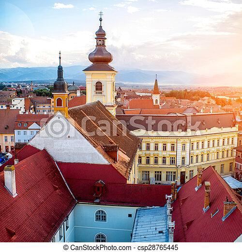 Sibiu cityscape view - csp28765445