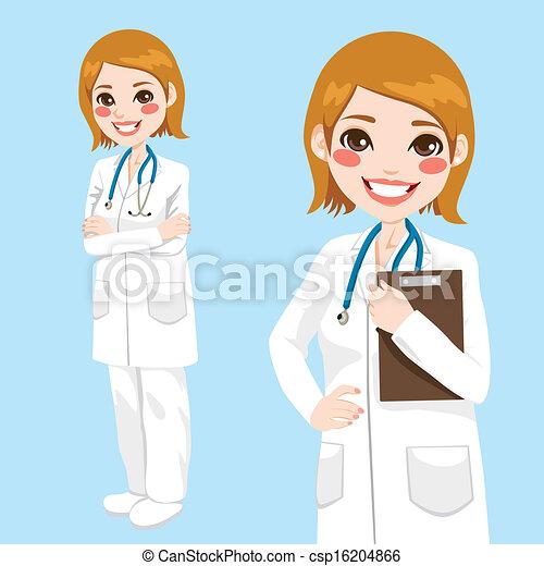Vertrauens Frau Doktor - csp16204866