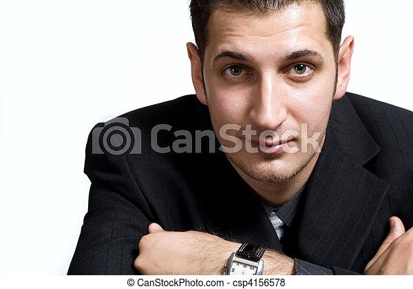 Vertrauter junger Geschäftsmann - csp4156578