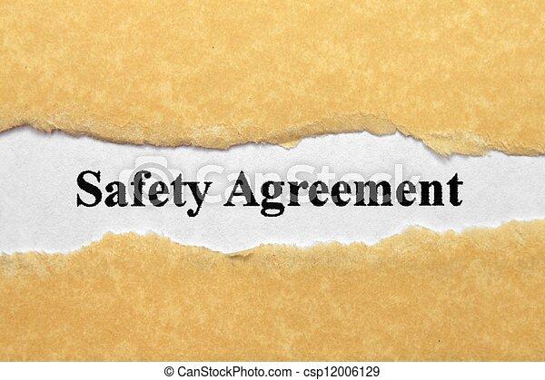 sicherheit, abkommen - csp12006129