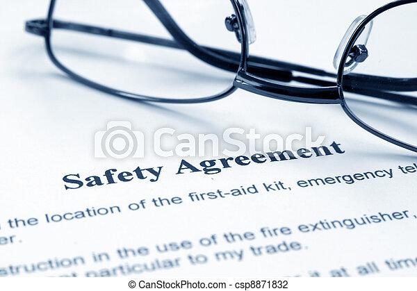 Sicherheitsabkommen - csp8871832