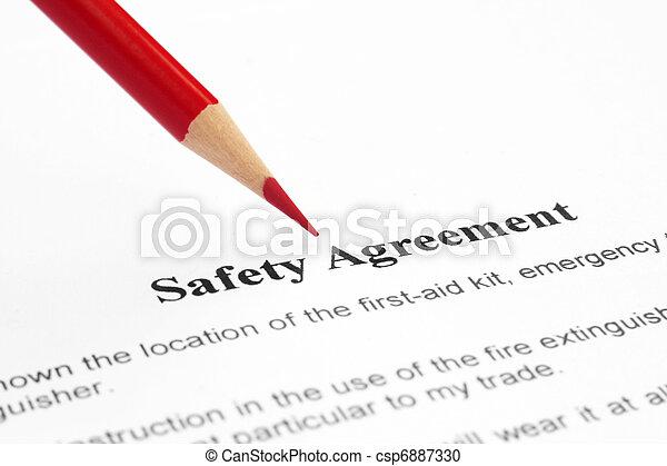Sicherheitsabkommen - csp6887330