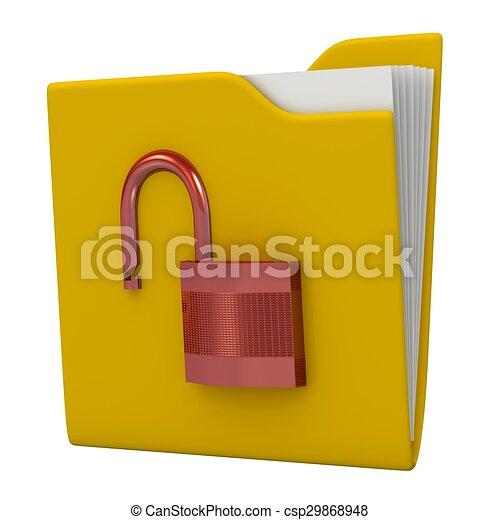 sicherheit, daten, concept. - csp29868948