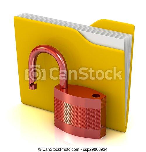 sicherheit, daten, concept. - csp29868934