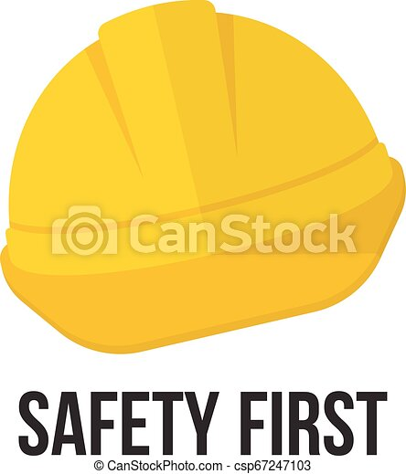 sicherheit, helmet., gelber  - csp67247103