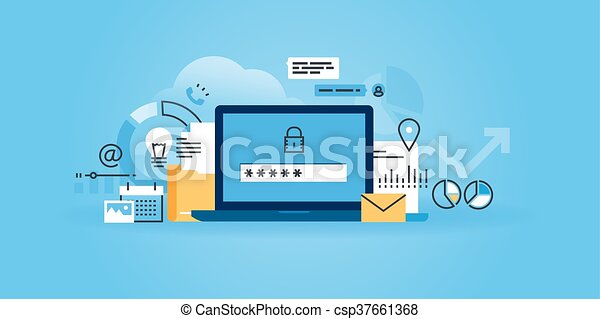 sicherheit, schutz, daten, online - csp37661368