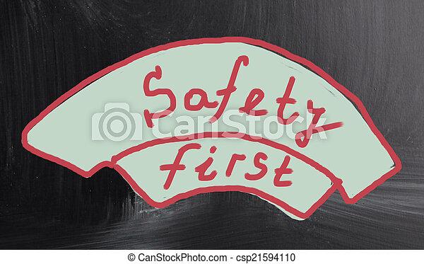 sicherheit zuerst - csp21594110