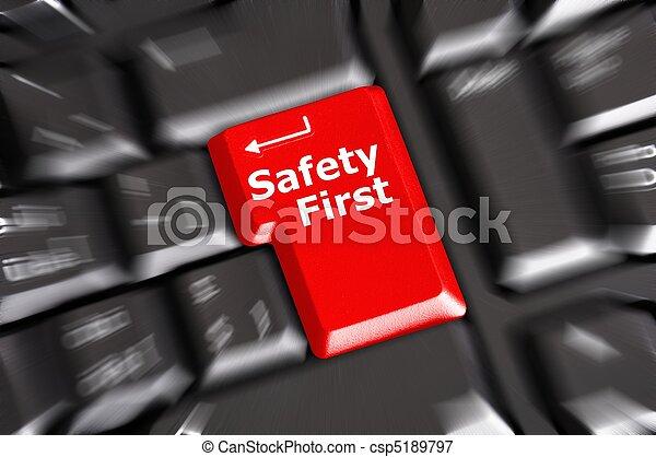 sicherheit zuerst - csp5189797