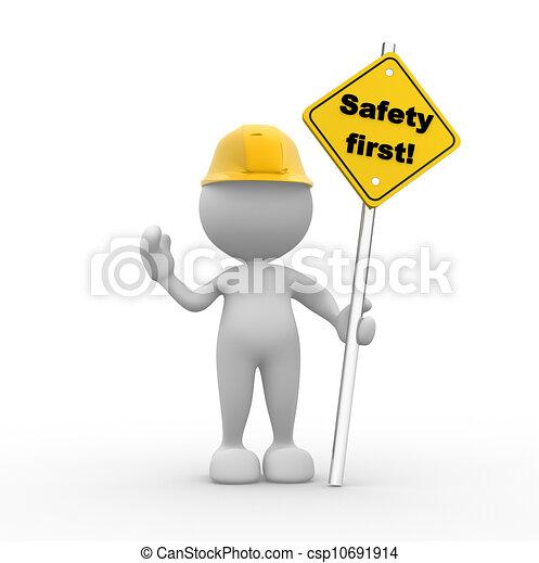 sicherheit zuerst - csp10691914