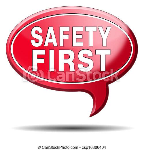 sicherheit zuerst - csp16386404