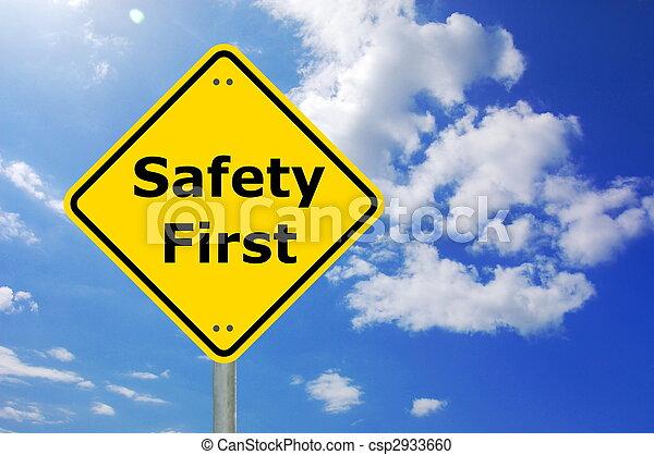 sicherheit zuerst - csp2933660