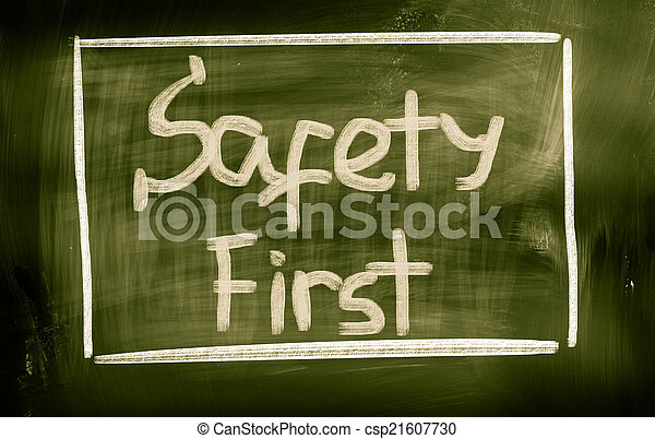 Sicherheit zuerst - csp21607730