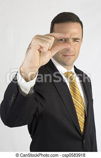 sichtung, finger, klage, spitzen, mann - csp0583918
