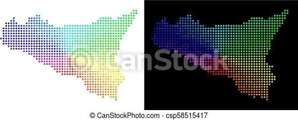 sicilia, spectre, point, carte - csp58515417