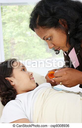 Sick Child - csp9308936
